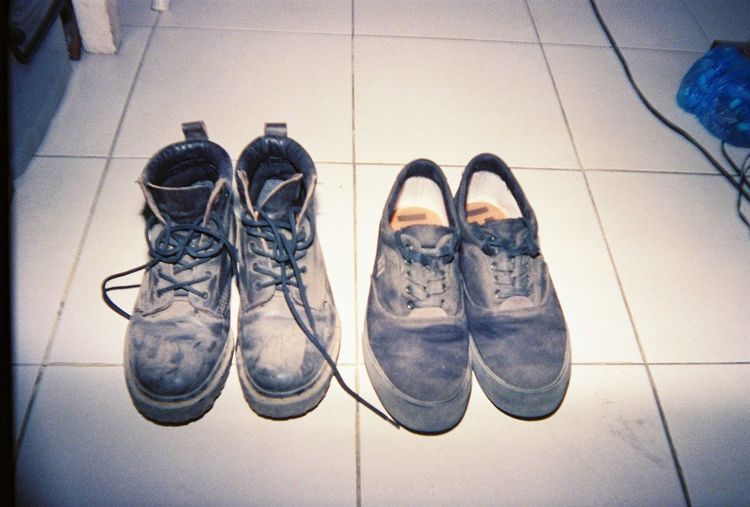 Black Cable Close-up Day Dirty Fashion Indoors  Low Section No People Pair Shoe Tile Tiled Floor Vans Vans Off The Wall Vansoffthewall Doc Martens Doc Martens Boots Out Of The Box Let's Go. Together.