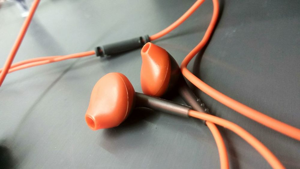 EyeEm Selects Red No People Cable Indoors  Close-up Technology Day EarPhonePlug Earphones In ❤ Music Songs.. Be. Ready.