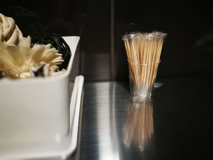 Close-up of ice cream in glass
