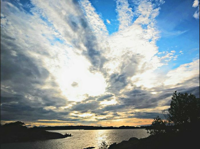 Aland Islands Beauty In Nature Cloud - Sky Idyllic Kokar Sea Sky Tranquil Scene Water