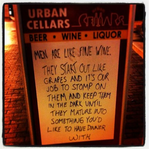 As seen on a liqour store in downtown Baltimore!