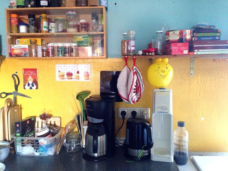 Still Life StillLifePhotography Stillleben Stillife Inthekitchen Kitchen Colorful Tea Spices Yellow Blue Rabbit Baloons Coffee