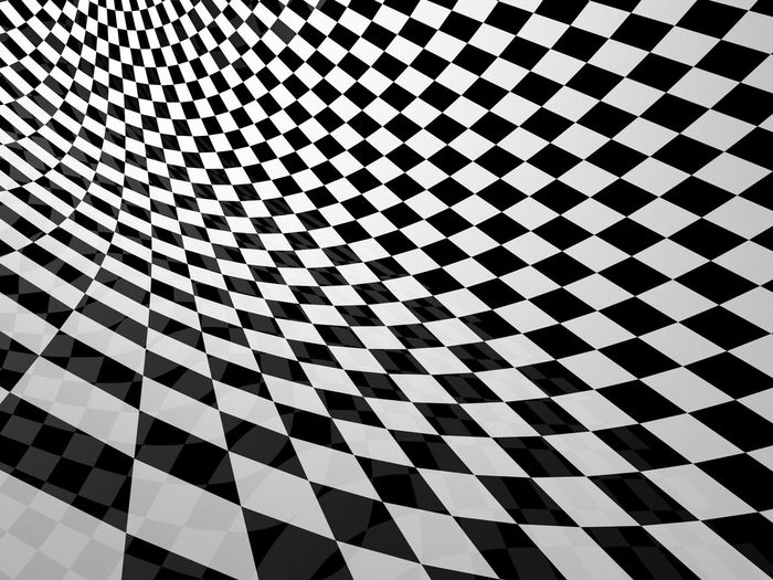 3D Abstract Art Backdrop Background Black And White Checker Close-up Design No People Pattern Table Wall