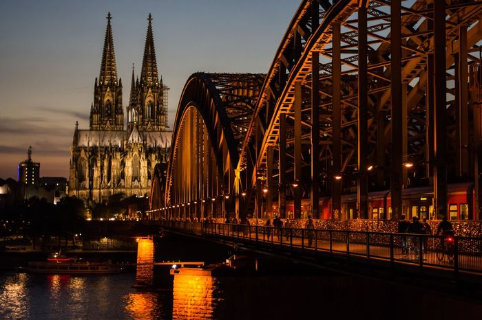 Photokina 2016 in Cologne Architecture Berniefrombern Berniephotographs Bridge - Man Made Structure City Cityscape Greatlight History Hohenzollernbrücke Illuminated Köln Kölnerdom Kölsch Lights Longexposure Sunset Travel Destinations Urban Skyline Visitköln