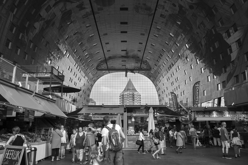 Archineos B&n Black And White Blanco Y Negro Holland Markthal Olanda Ugo Villani Architecture Photography Bianco E Nero Building Indoor Photography Koopboog Monochrome MVRDV Rotterdam Urban Geometry