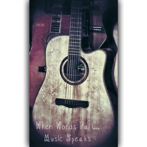 When Words Fail... Music Speaks Music Taking Photos Guitar Typography
