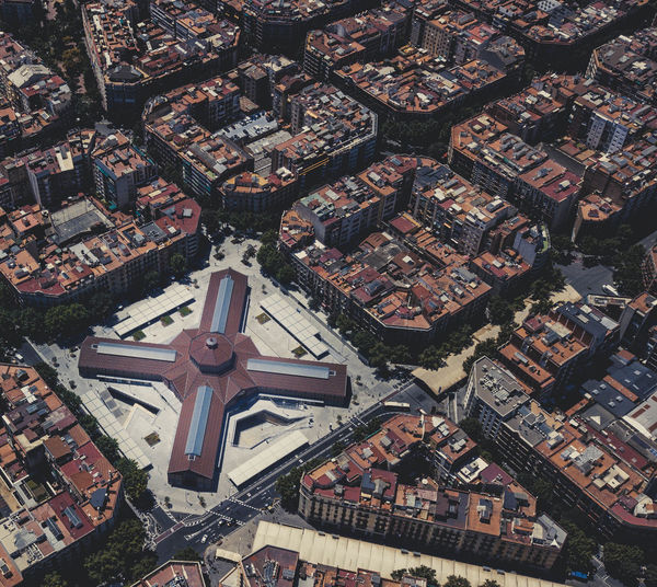 SUPERBLOCKS Barcelona SPAIN Aerial View Architecture Belief Block Building Building Exterior Built Structure City Cityscape Community Day Europe High Angle View No People Outdoors Religion Residential District Spirituality TOWNSCAPE Travel Destinations #urbanana: The Urban Playground