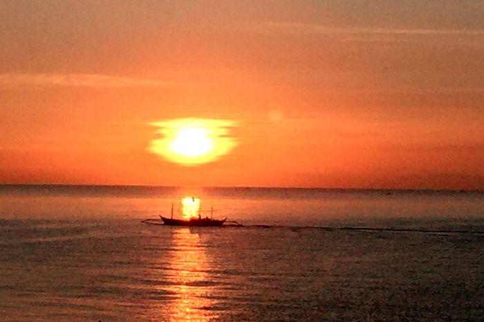 Serenity Sunrise Sea Orange Color Horizon Over Water Sun Scenics Nautical Vessel Beauty In Nature Tranquil Scene Nature Water