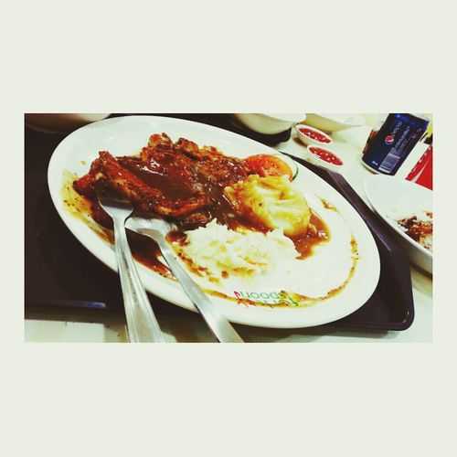 throw back dinner with uncle. Chickenchop Mashedpotatoes