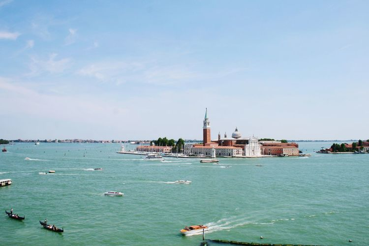 Church of san giorgio maggiore at grand canal against sky