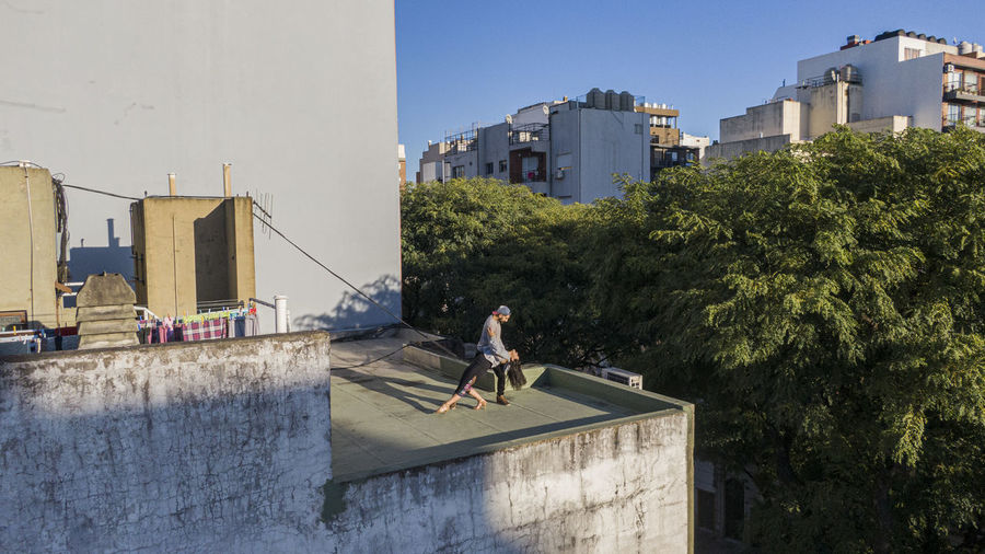 Couple dancing in a roof top in buenos aires