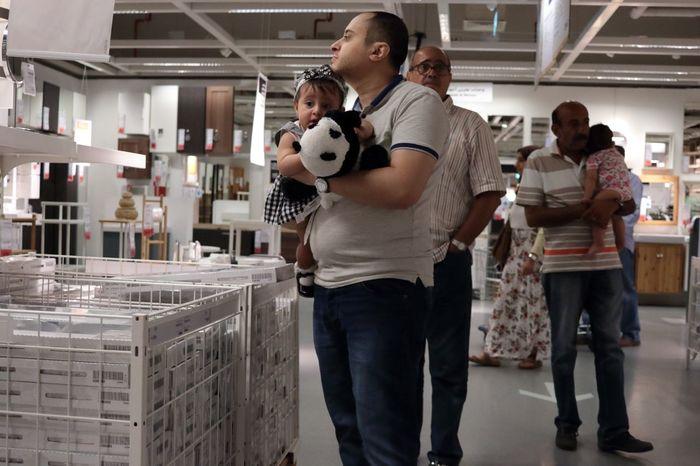EyeEmNewHere Standing Babies Baby And Father Panda Panda Bear Shopping Mall Egypt égypte EyeEm TOA 2017