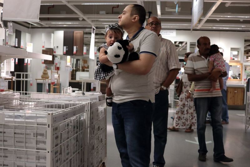 EyeEmNewHere Standing Babies Baby And Father Panda Panda Bear Shopping Mall Egypt égypte EyeEm TOA 2017