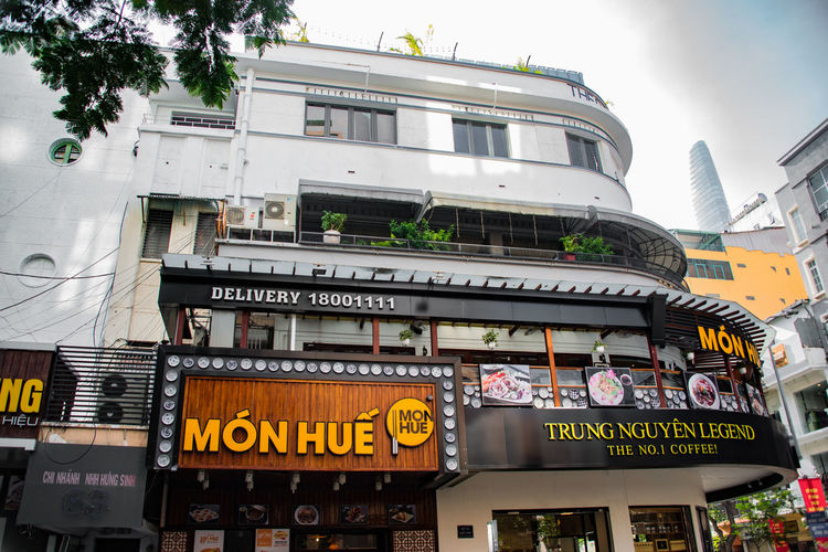 Old Saigon Vietnam White Wall Coffee Shop
