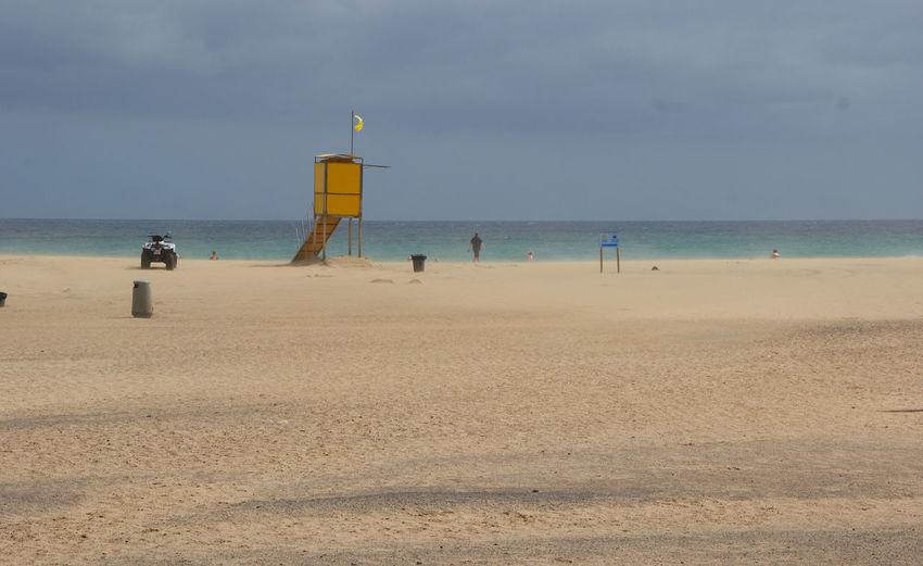 Beach Canary Islands Fuerteventura Horizon Over Water Kanarische Inseln Parque Natural Corralejo Sand Sea Sun Beds Water