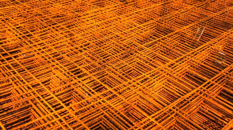 Metal Corrossion Architecture Abstract Oxide Metal Ferrous Metallurgy Industrial Material Manufacturing Macro Reinforcement Bar Backdrop Wallpaper Steel Stacks Metal Heap Metal Oxide Metal Rusty Surface Texture Construction Square Shape Orange Color Rectangle Shape Rusty Metal Brown Indoors  No People Close-up
