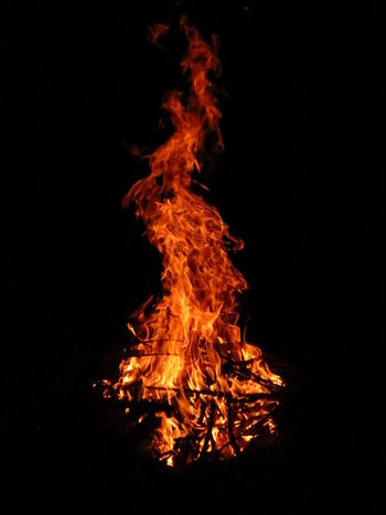 Bonfire Camp Fire Dark Flames Nature Beauty Deep Fire Firecamp Large Format