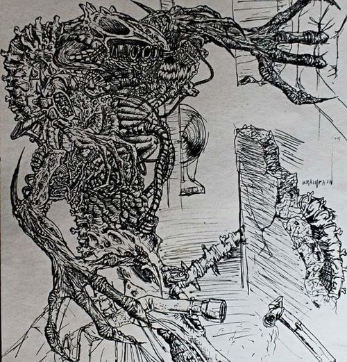 Old drawing, 2005. Drawing Gel Pen