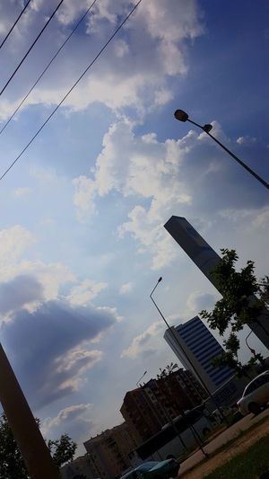 Cloudy Sky ☁️ Gökyüzü🎑 Cloud - Sky Bulutlar ☁ GöğeBakalım Sky Light Trail City Bulut☁ Yaz Open Air The Great Outdoors - 2017 EyeEm Awards Clouds And Sky No People Outdoors