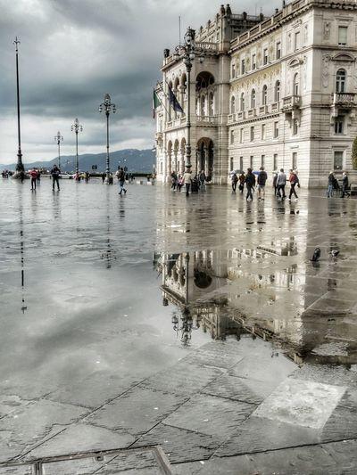 Piazza Unita' d'Italia Trieste Italy Reflection_collection Reflection Trieste TriesteSocial Triesteraccontatrieste Triestephotodays Trieste_streetlife Triestestreetlife Trieste, Italy Triestemonamour