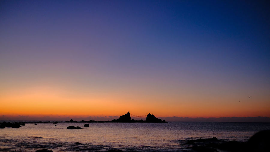 Beach Beauty In Nature Clear Sky Day Horizon Over Water Nature No People Outdoors Scenics Sea Silhouette Sky Sunset Tranquil Scene Tranquility Water Wave