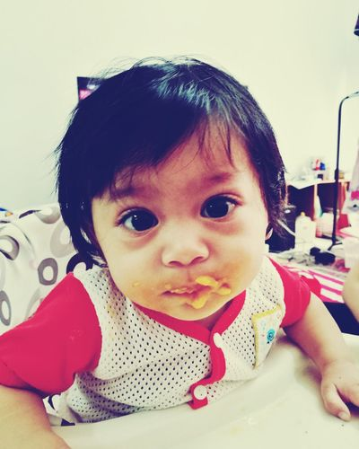I enjoy foods. Baby Babies Only Cute Leica Lens Makeitpossible Huaweibestwei HuweiP9plus Malaikaeliya MummydaddyloveUsomuch Portrait