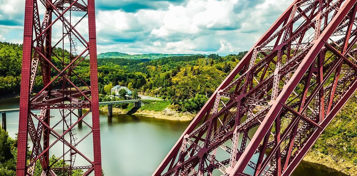 Eiffel bridge of Garabit Aerial View DJI X Eyeem DJI Mavic Pro Architecture Architecture_collection Eiffel Bridge - Man Made Structure Sky Water Cloud - Sky Nature Day Tranquility Beauty In Nature Lake Reflection Outdoors