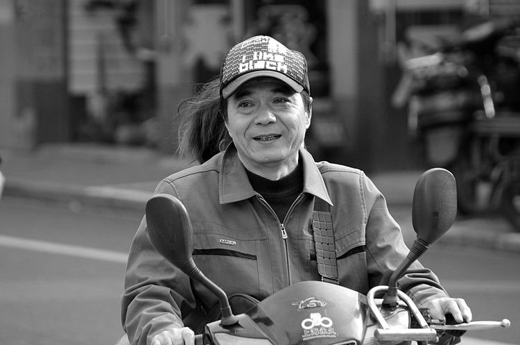 Adult Black & White Black And White Front View Hat Motorcycle Outdoors People Portrait Real People Shanghai Streets Shanghai, China Smiling Streetphotography Waist Up