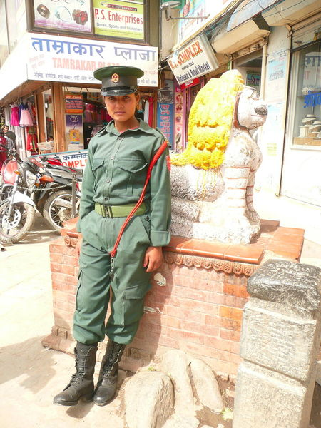 Kathmandu Kathmandu, Nepal Nepal Nepalese Policewoman Woman Soldier Nepalese Pagoda Temple Police Woman