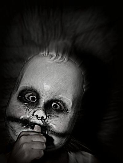 Baby Scary Boo Frightning Mask HEAD Portrait Scary Masks Sucking Thumb