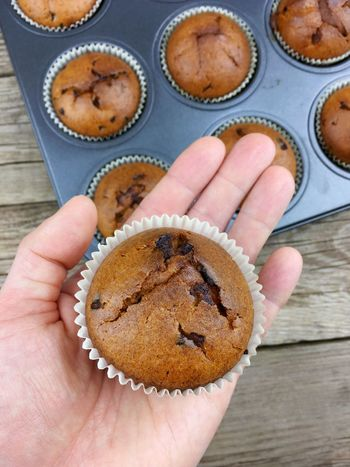 Chocolate Nuts Baked Body Part Brown Cake Cinnamon Cupcake Cupcake Holder Dessert Finger Food Food And Drink Foodporn Freshness Hand Handmade High Angle View Holding Homamade Human Body Part Human Hand Muffin Muffins One Person Personal Perspective Real People Snack Sweet Sweet Food Sweets Temptation Unrecognizable Person