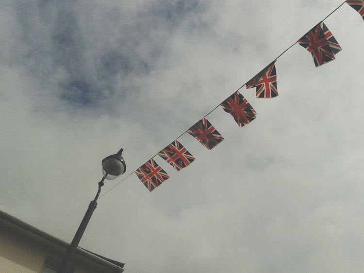 Bunting Flags Union Flag Street Party British English Street Light