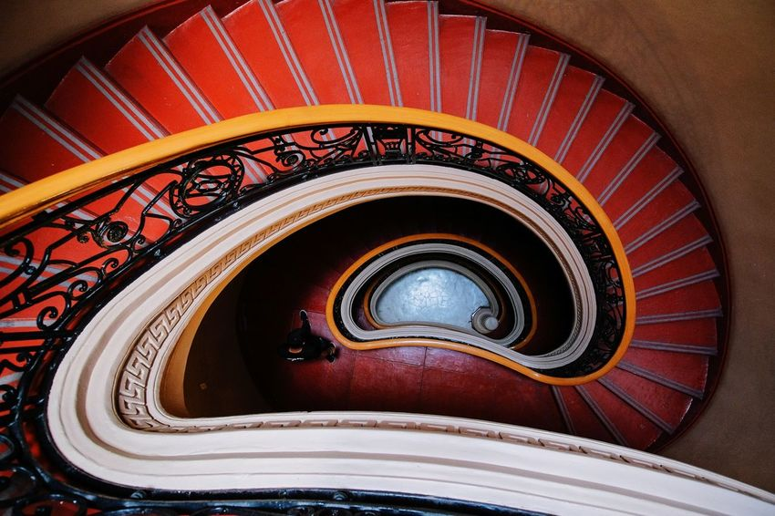 spiral #EyeemPhilippines EyeEm Selects Staircase Steps And Staircases Railing Steps Spiral Architecture High Angle View Spiral Staircase Built Structure No People Day Indoors  Visual Creativity