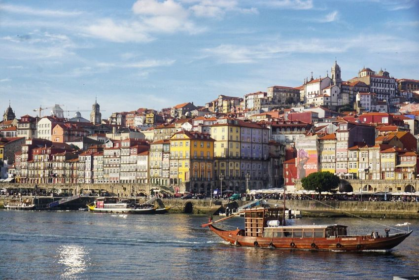 Architecture Building Exterior Built Structure City Sky Nautical Vessel Waterfront Residential Building Day Outdoors Cityscape Town Water Cloud - Sky Community Travel Destinations No People Residential  Porto Portugal 🇵🇹 Portugal