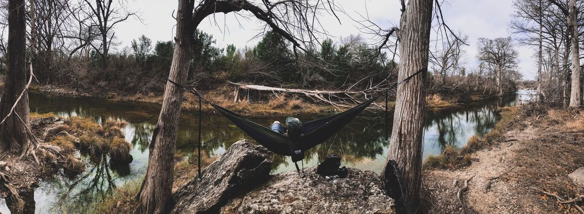 Imagine an ocean Tranquil Scene Tranquility Reflection Go Outside Adventures Hikingadventures Fallen Tree Texas State Parks Texas Water Relaxing Hammock Day Outdoors Bare Tree Sitting Branch Scenics Adult Full Length Beauty In Nature