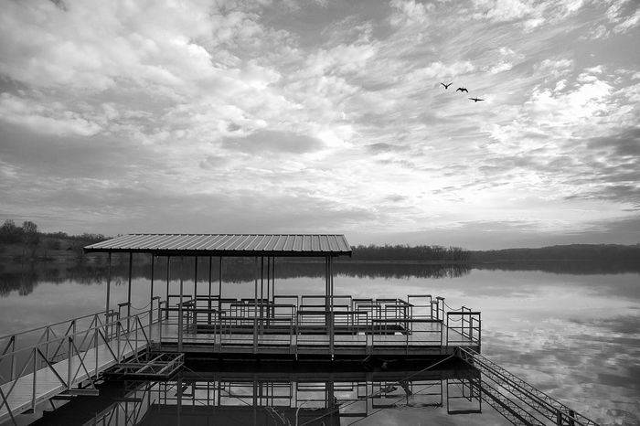 Lake Springfield Missouri Springfield, MO Black & White Bnw_collection Blackandwhite Bnw_society Bnwphotography Bnw_captures Springfieldmo Ozarks HDR Bnw_hdr Lake Waterfront Water Reflections EyeEm Selects