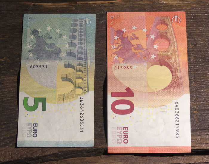 Close-up Currency Day Euros Finance Geldscheine Indoors  Money No People Paper Currency Savings Wealth