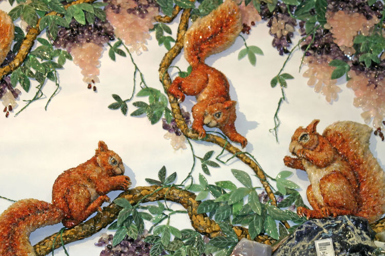 Jade Squirrels Animal Themes Animals In The Wild Bird Branch Close-up Day Leaf Mammal Nature No People One Animal Ornaments Outdoors Tree Water