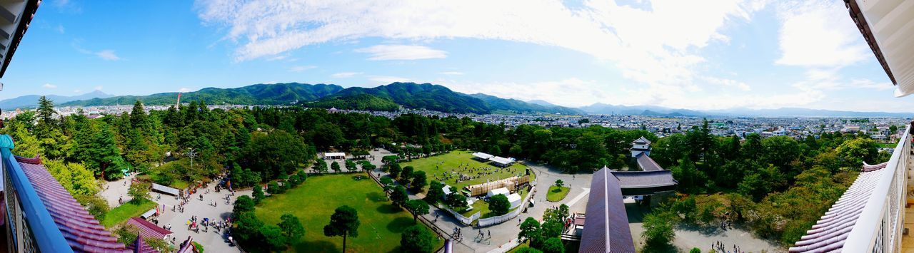 XPERIA Xperia Xz1 Tsuruga Castle Castle Town City Mountain Sky Cloud - Sky