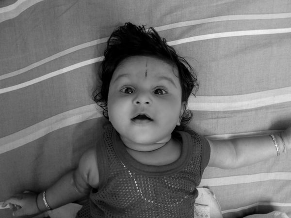 Black & White Black & White Photography Childhood Close-up Cute Day Infant Infant Photography Looking At Camera Portrait Real People EyeEm Selects EyeEm Ready   Inner Power This Is Family Visual Creativity This Is My Skin The Portraitist - 2018 EyeEm Awards