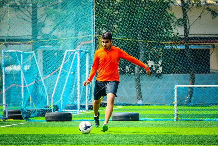 Shek it off. Soccer Soccer Ball Soccer Player Playing Sportsman Soccer Uniform Kicking Soccer Field Grass Full Length Sport One Person Motion Only Men Activity Sports Clothing Adult One Man Only Outdoors People First Eyeem Photo
