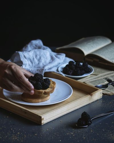 EyeEmNewHere EyeEm Best Shots EyeEm Selects Human Hand Hand Food Food And Drink One Person Human Body Part Temptation Kitchen Utensil Sweet Food Table Plate Fruit