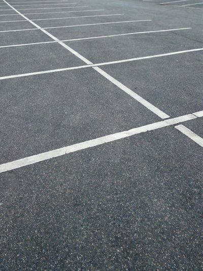 street parking place space marking Parking Marking Of Road White LINE Place Space Asphalt Street Road Backgrounds Full Frame Pattern Sport No People Day Outdoors Running Track