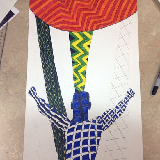 My art project so far Zentangle Artclass