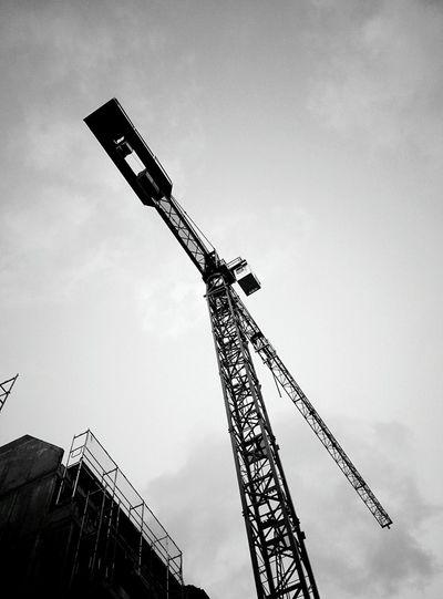 Day 274 - 🏗 Berlin Blackandwhite Crane Sky 365project 365florianmski Day274