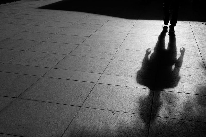 Close-Up Of Shadow On Pavement
