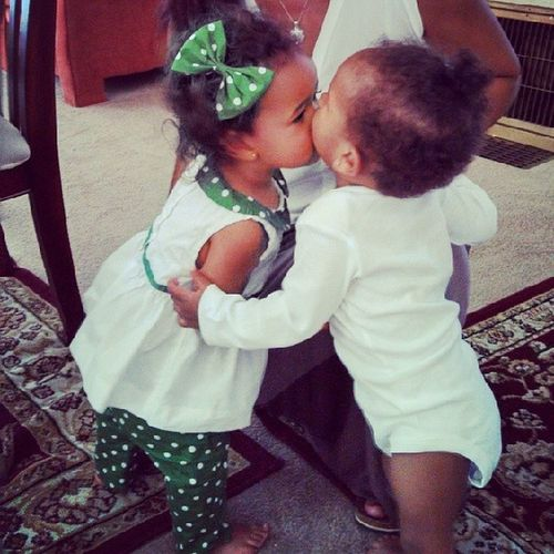 My poopies giving kisses Cousinlove  Family Missmylittlemamas