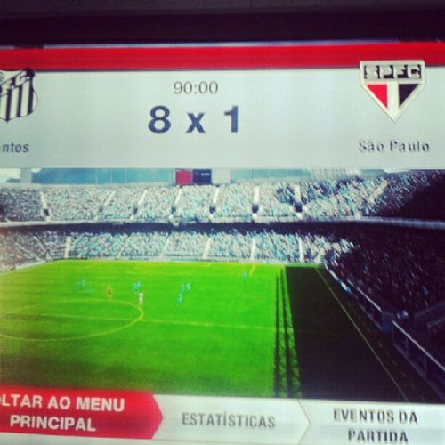 Com td respeito @qiinhos kkkkkkkkkk FIFA13 SPFC Santosfc 8x1 goleada choramarquinhos neymonstro messicero andrégordo