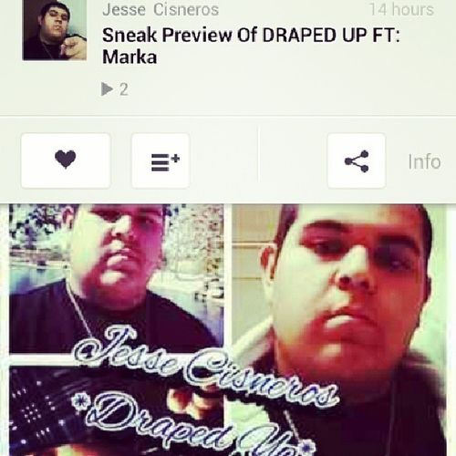 The Sneak preview of draped up featuring Marka is available now at soundcloud.com go check it out show love and support! New Song Sneakpreview Availablenow soundcloud TEAMCISNEROS TrueFans BrandNew AZChicanoRapArtist amazing ArizonasBestArtist