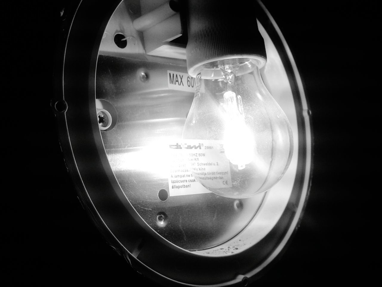 close-up, lighting equipment, no people, indoors, light bulb, illuminated, technology, filament, day